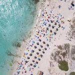 Playas de Formentera vistas desde un Drone